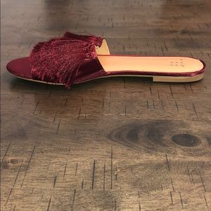 a new day Shoes - Burgundy Tasseled Flats
